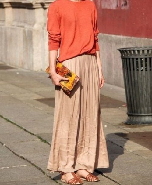 Long Skirt You Can Pair A Baggy Shirt With A Loose Skirt
