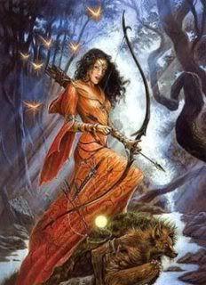 Festival Romano de Diana, originariamente a Rainha do Céu e da Luz da mitologia pré- helênica, posteriormente transformada na deusa grega da lua crescente.