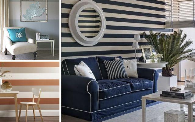Las 25 mejores ideas sobre paredes de rayas horizontales en pinterest pintando rayas - Rayas horizontales en paredes ...