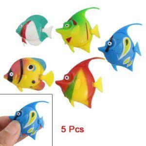Como 5 Pcs Plastic Floating Tropical Fishes Ornament for Aquarium: Aquarium Decor, Gifts for Fish Lovers