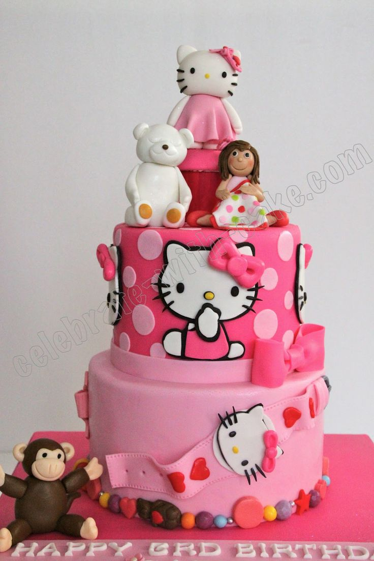 1000 Images About Hello Kitty Cakes On Pinterest Cake