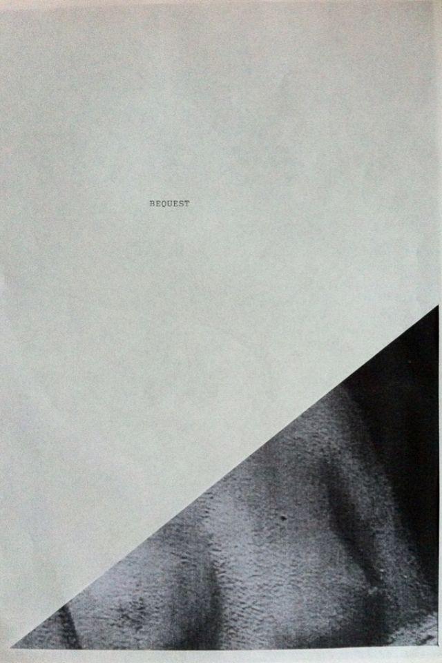 Bequest. Studio piece.
