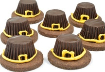 This fun recipe will keep your little pilgrims busy (and happy) on Thanksgiving day while you finish the main meal in the kitchen. Chocolate peanut butter cups sit atop chocolate cookies with royal icing trim. A quick and easy recipe that also looks cute and tastes delicious. These would be fun snacks for a school party or a fall get together with the neighbors.