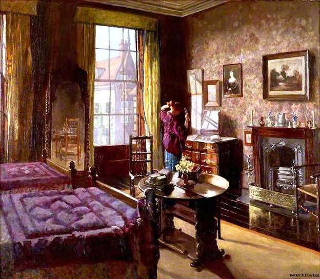 mary dawson elwell bedroom with a figure bar house beverley east riding of yorkshire