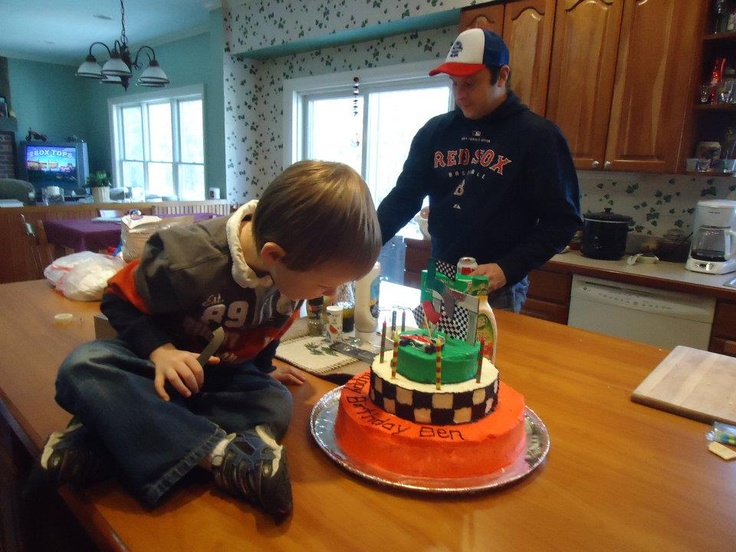Ben's Cars 2 Francesco Bernoulli 5th Birthday Cake