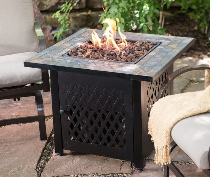 Exceptional Fire Pit Table With Mosaic Top