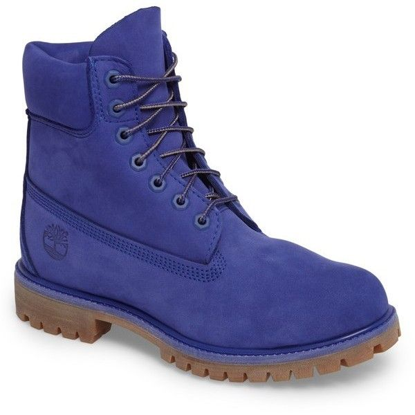 Men's Timberland 'six Inch Classic Boots Series - Premium' Boot ($190) ❤ liked on Polyvore featuring men's fashion, men's shoes, men's boots, men's work boots, royal blue, timberland mens work boots, mens water proof boots, mens waterproof boots, timberland mens boots and mens boots