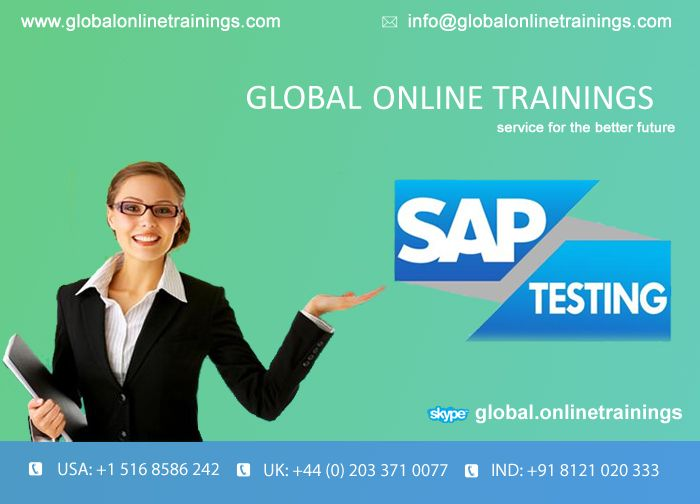 We are providing Live Online Demo on SAP SD, SAP TESTING,SAP SAP WM , interested people register in website | 91-40-6050-1418