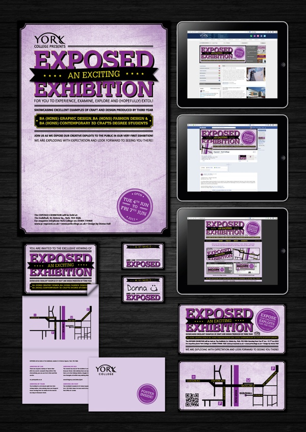 Degree Show Promotional Material by Donna Hall, via Behance