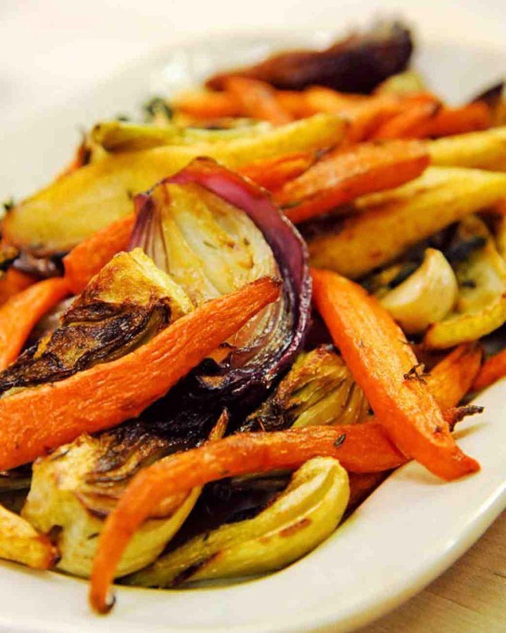 Martha Stewart karácsonyi menüje - sült zöldségek