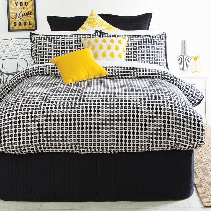 This retroesque quilt cover by Muse called Chaplin will make any room pop. - Pillow Talk