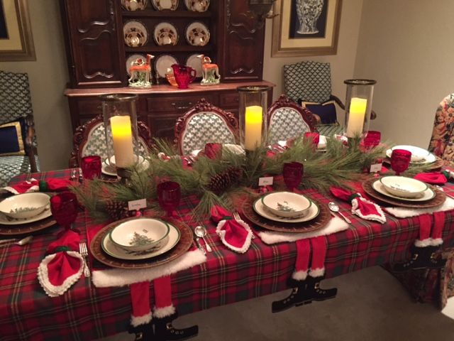 Best Spode Christmas Table Setting Images On Pinterest - Christmas tartan table decoration