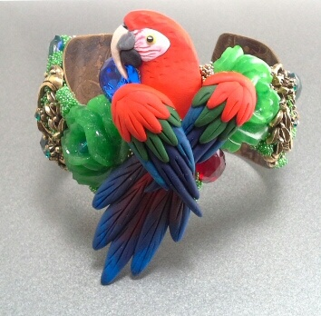 GreenWing Macaw Cuff Bracelet