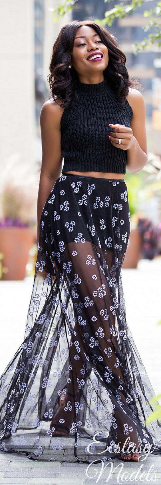 Maxi Sheer // Fashion Look by Jadore-Fashion