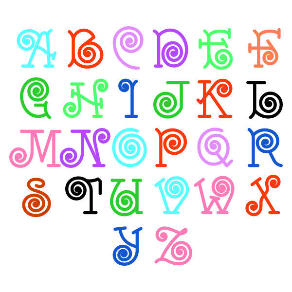 Images about monogram svg cuttable fonts on pinterest
