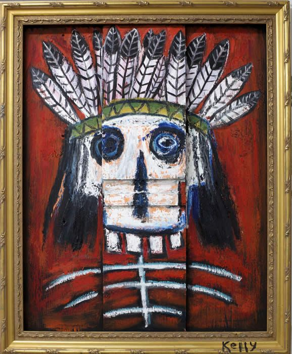 """Dead Indian"" by Santa fe New Mexico art renegade Kelly Moore"