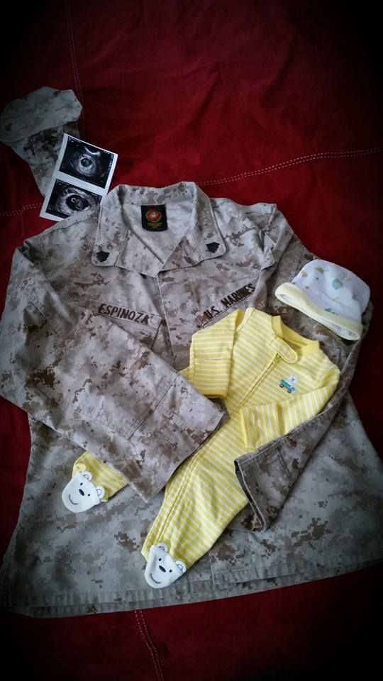 Military USMC inspired pregnancy announcement