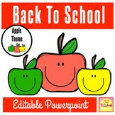 Apple Theme Back To School Powerpoint For Open House