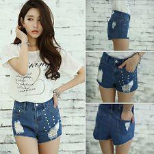 Summer Fashion Women Sexy High Waist Jeans Hot Pants Casual Denim Short Shorts