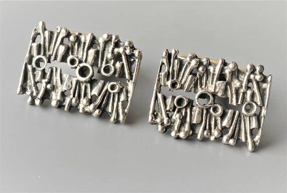 1969 Details about  /Vintage Martti Viikinniemi Finland Modernist 830H Silver Brooch Pin c