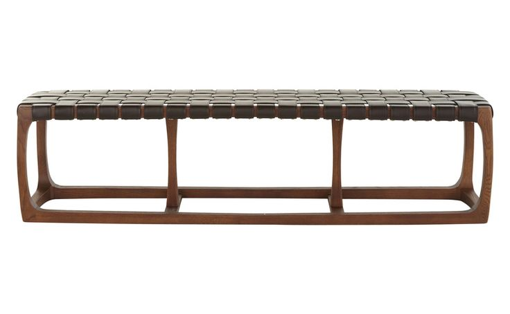 BONHILL BENCH - Contemporary Mid-Century / Modern Transitional Benches