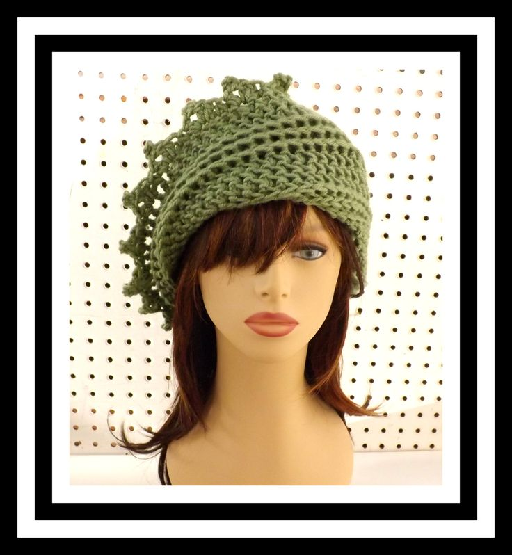 Crochet Hat Womens Hat LAUREN Crochet Beanie Hat Sage Green Hat 40.00 USD http://ift.tt/1f10gtT  by strawberrycouture (40.00 USD) http://ift.tt/1f10gtT