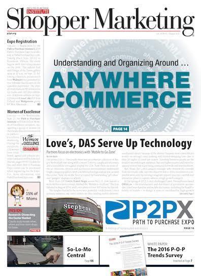 August, 2016 issue of Shopper Marketing magazine