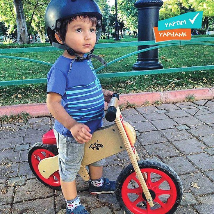 """59 Likes, 2 Comments - YAPHANE (@yaphane) on Instagram: """"Minikler ilk bisikletlerine kavuşuyor! 🚲💨 @taytay_tahta_bisiklet iş birliği ile çıkardığımız 'Ahşap…"""""""