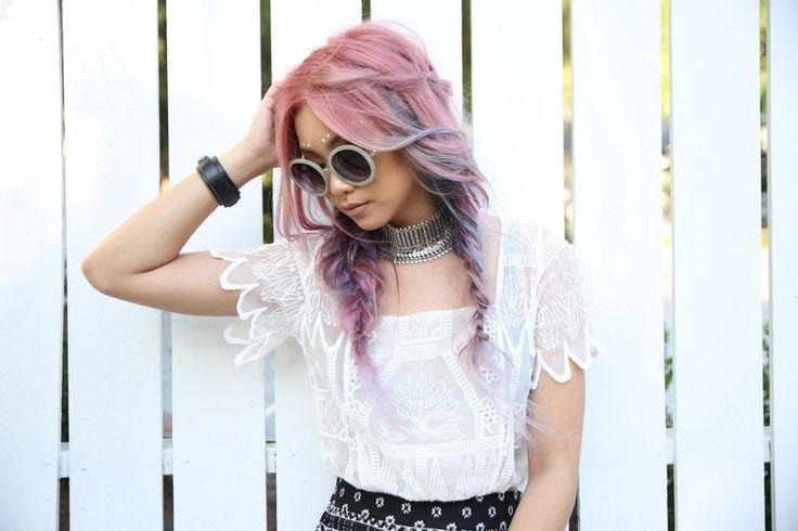 Pastell Haare und pastellige Farbkombinationen als Haarfarben Trends 2017