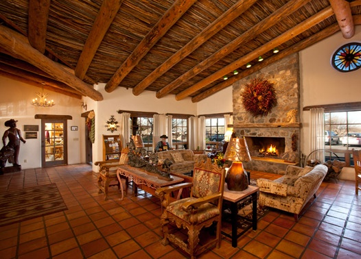 A warm welcome to all at Tanque Verde Ranch.  Ranch lobby.