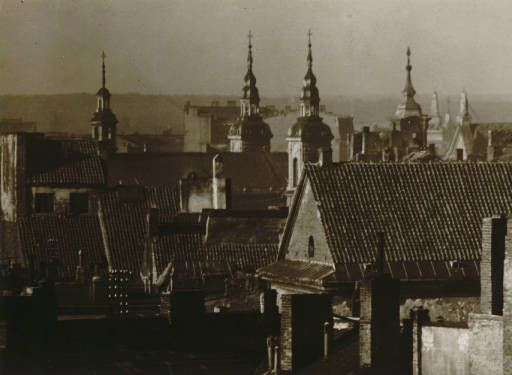 Warsaw: the old quarter :: Jan Bulhak Collection :: Digital Collections :: University at Buffalo Libraries. Click the image to visit the University at Buffalo Libraries Digital Collection and learn more about the photograph. #ublibraries #polishroom #JanBulhak #Poland