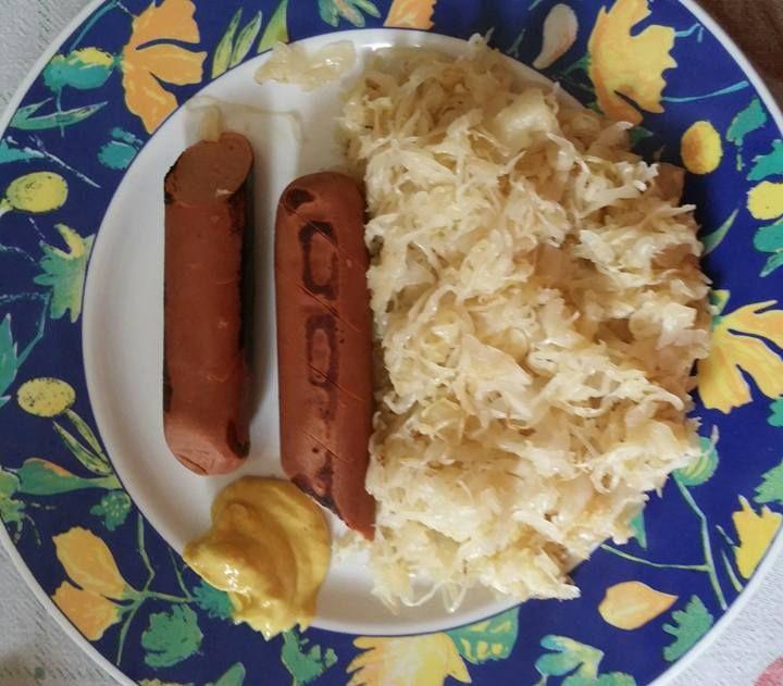 Wurstel di seitan con crauti