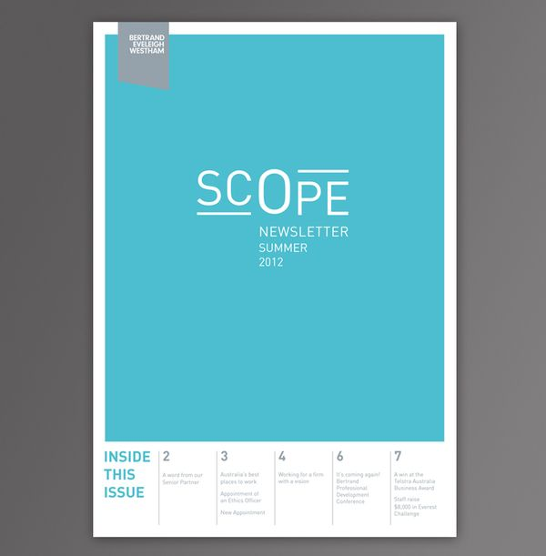Scope  //  Corporate Newsletter by Noémie Pottiez, via Behance
