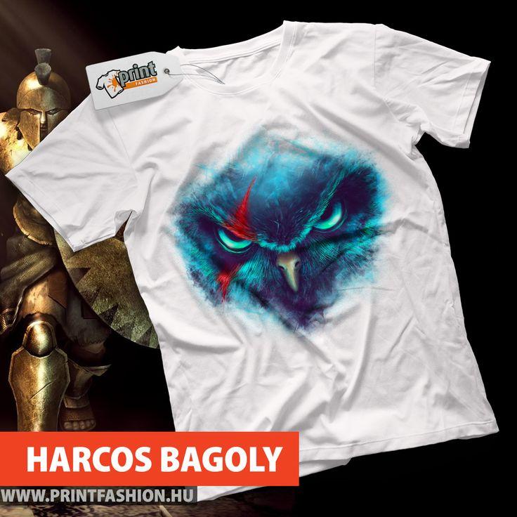 🦉 HARCOS BAGOLY 🦉 🛒 https://printfashion.hu/mintak/reszletek/harcos-bagoly/ferfi-polo/ Egyedi pólók, atléták, pulcsik, táskák, párnahuzatok! 🛒 https://printfashion.hu