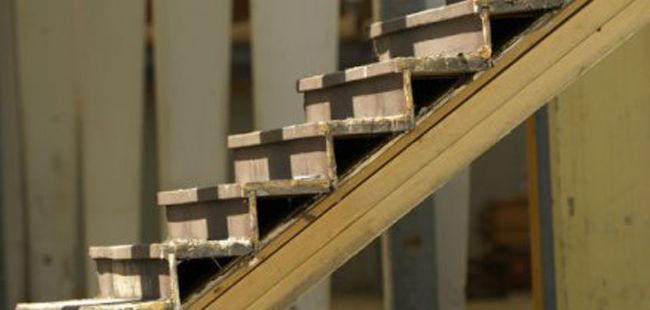 Three Ways to Repair Creaking Stairs - http://www.myhometricks.com/three-ways-to-repair-creaking-stairs/ - #Repairing Gluing a riser Push a screwdriver between the tread and the riser and insert a piece of cardboard covered with wood glue. Leave it there. Repeat until the squeak is gone. Adding a wood block A persistent squeak may need tackling from under the stairs. Glue a triangular block of wood into the...