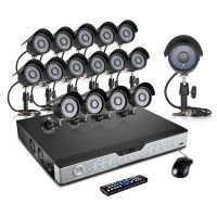 CCTVFOCAL  Complete 4 Channel Economy Full D1 DVR Security System with 4x 480TVL Day Night Cameras