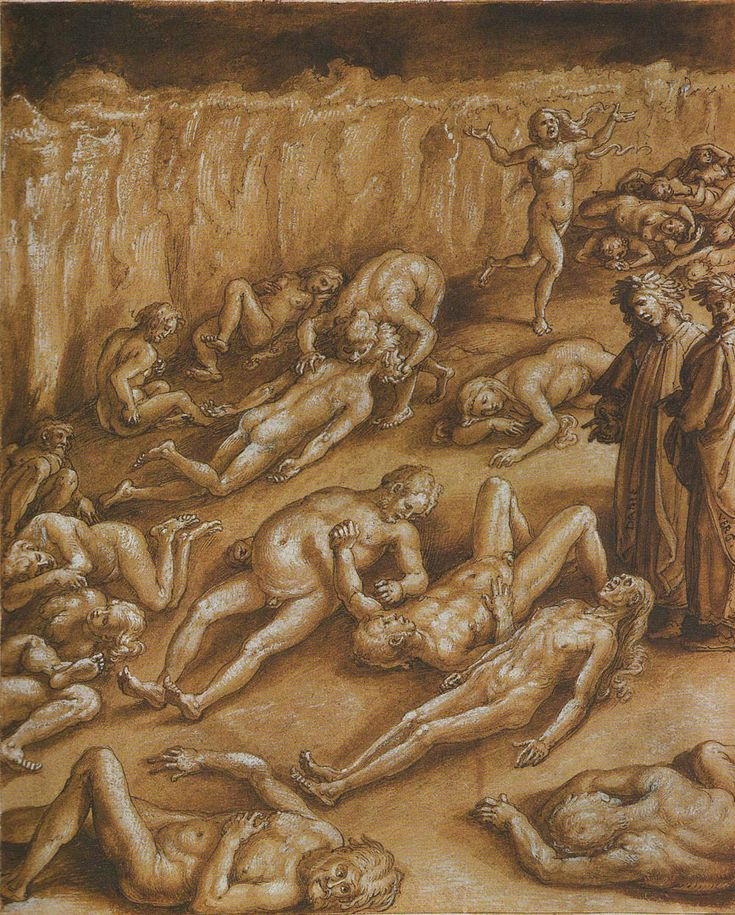 Sparknotes Complete Text Of Dantes Inferno Canto Xx Virgil And Dante
