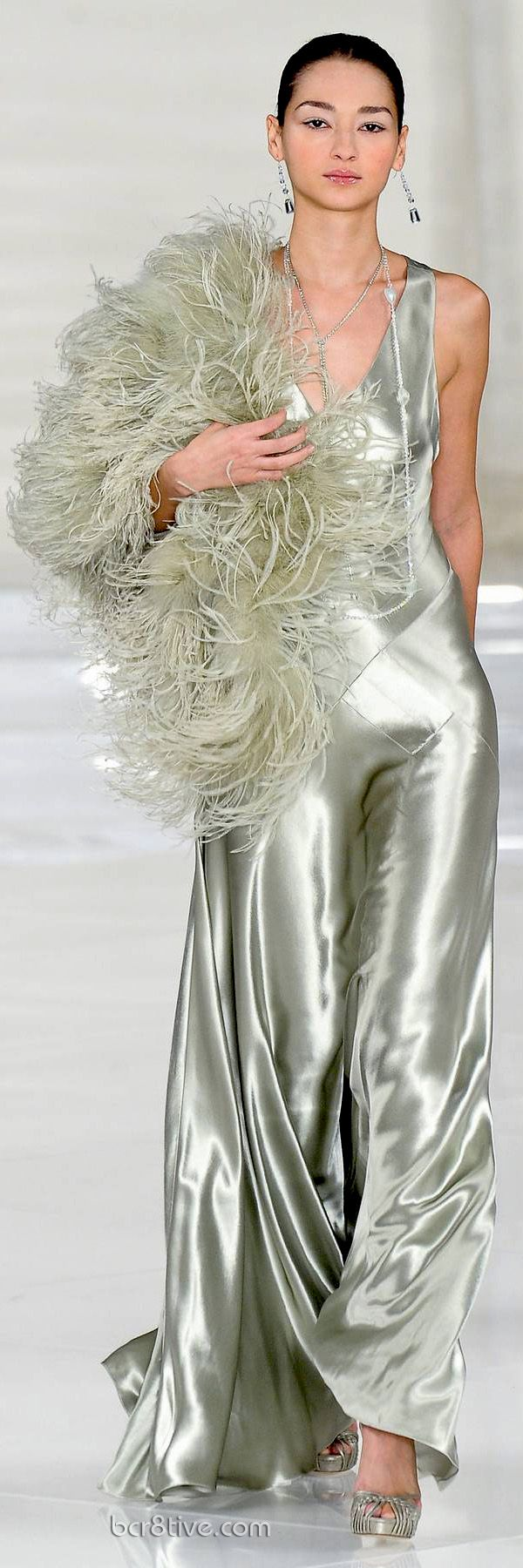 This is a collection of full length runway fashion photos from the esteemed Designer, Ralph Lauren. Commemorating a gorgeous & memorable collection from his Spring Summer 2012 Collection.