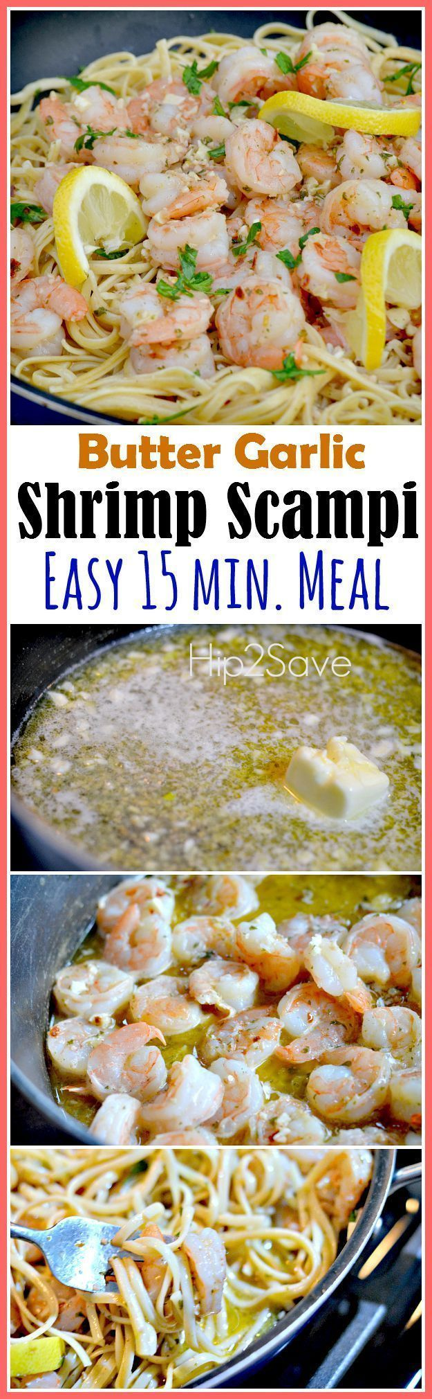 Shrimp Scampi (Easy AND Quick Meal Idea). A delicious pasta dish that's filled with rich flavors made with plump shrimp. Enjoy this as your main dish tonight or on the weekend. Enjoy coupons, craft ideas and recipes at Hip2Save.com