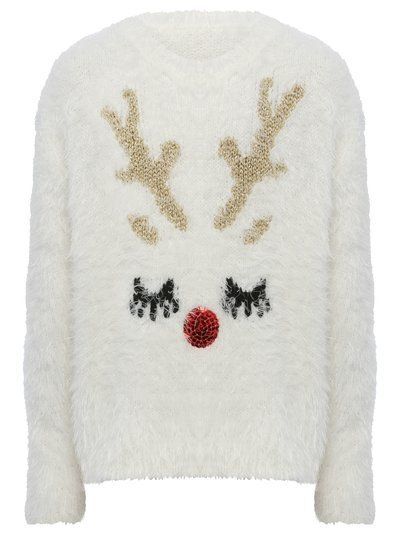 Reindeer face jumper