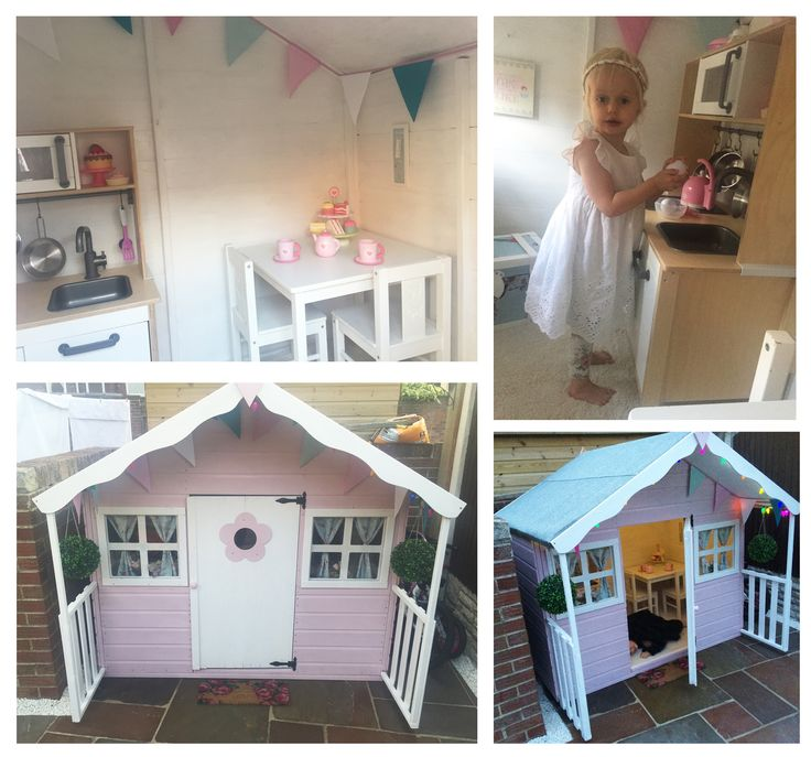Best 25 girls playhouse ideas on pinterest cubby house for Wooden wendy house ideas