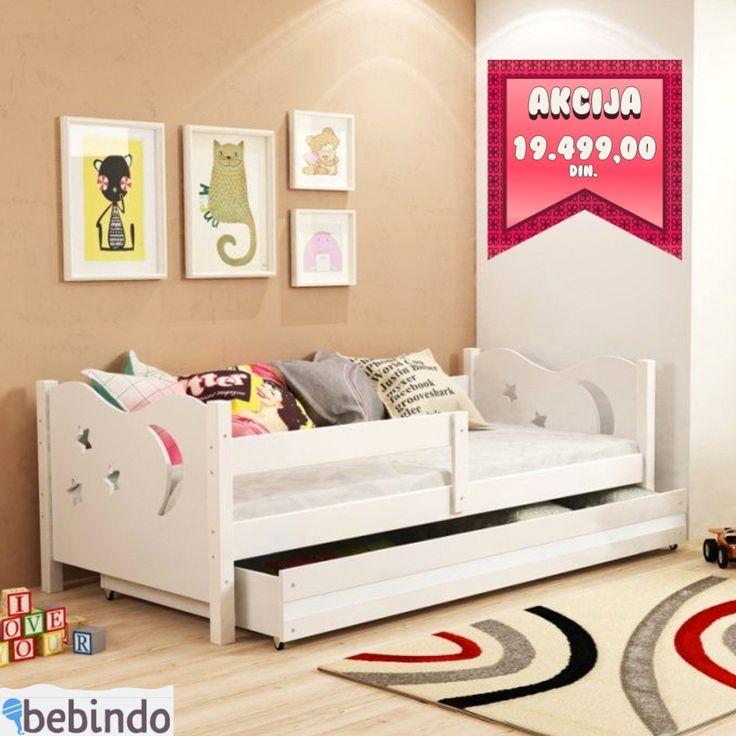 Baloo Elegant Krevet Za Decu 160x80 White Beli White Toddler Bed