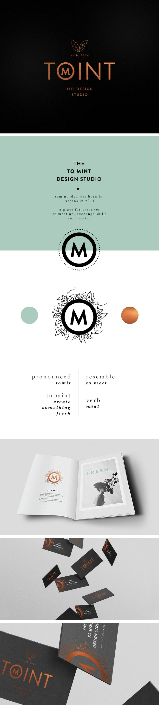 NEW IN PORTFOLIO: TOMINT DESIGN STUDIO  Brand Identity  http://www.cocorrina.com/2014/06/new-in-portfolio-tomint-design-studio.html