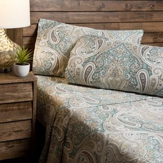 Shop for Crystal Palace Paisley 300 Thread Count Cotton Sheet Set. Free Shipping on orders over $45 at Overstock.com - Your Online Sheets