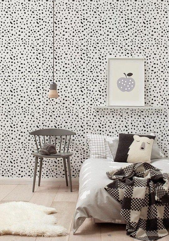 Zelfklevend vinyl behang, muur sticker - Cheetah patroon-072 MIDDERNACHT / SNEEUWWITJE