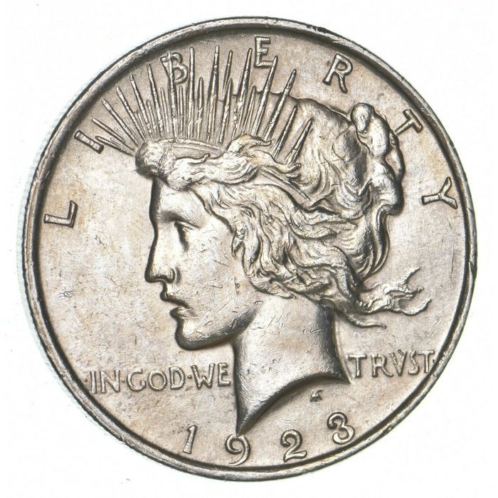 1923 Us Peace 1 Dollar Silver 900 Coin Very Nice On Ebid United States 189207411 In 2020 Coins Silver Coins Dollar Usa