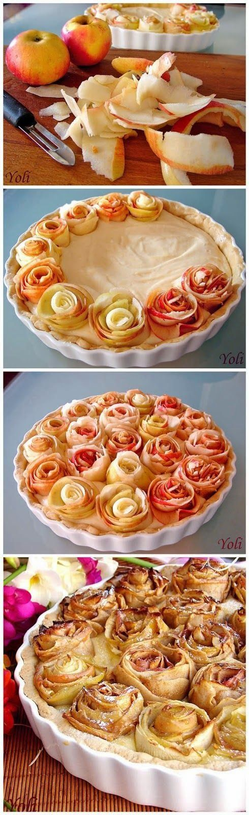 Apple pie with roses. I so want to make this! Beautiful and delicious!