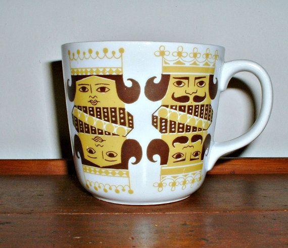 Arabia Finland Kings Queens Mug Cup Vintage by ClassicMemories, $55.00