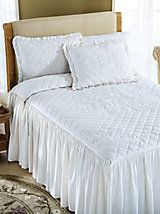 Colette Drop Ruffle Bedspread | linensource