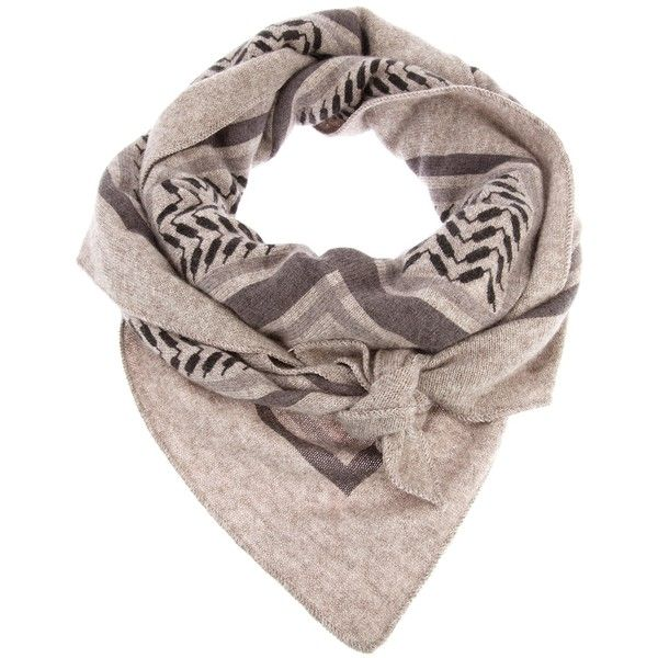 LALA BERLIN check print scarf (4 180 SEK) ❤ liked on Polyvore featuring accessories, scarves, grey shawl, lala berlin, gray scarves, print scarves e patterned scarves